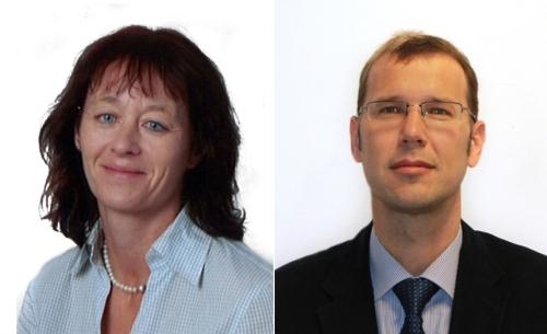 Ulrike Muck (EBG MedAustron) and Thomas Schreiner (PEG MedAustron)